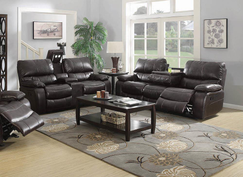 Coaster Willemse Motion Collection - Dark Brown - Willemse Chocolate Reclining Two-piece Living Room Set - 601931-S2