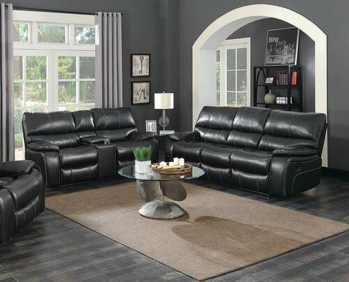 Coaster Willemse Motion Collection - Black - Willemse Dark Brown Reclining Two-piece Living Room Set - 601934-S2
