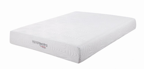 "Coaster Key 10"" Mattress - White - Key Queen Memory Foam Mattress White - 350064Q"