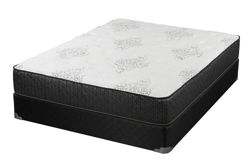 "Coaster Freya Plush Mattress - White / Charcoal - Freya 11.5"" Queen Mattress White And Black - 350372Q"