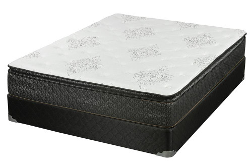 Coaster Freya Pillow Top Mattress - White / Charcoal - Freya Queen Mattress Grey - 350373Q