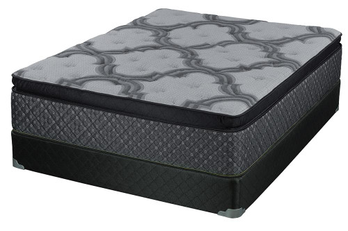 "Coaster Jayden Pillow Top Mattress - Grey - Jayden 15.5"" Queen Mattress Grey And Black - 350393Q"