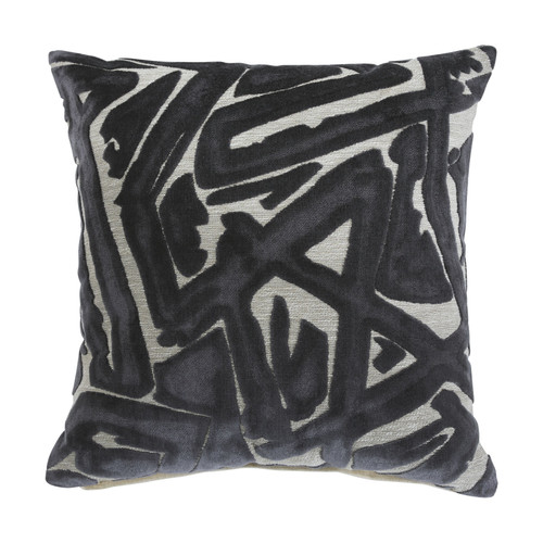 Ashley Kaslow Gray/Cream Pillow (4/CS)