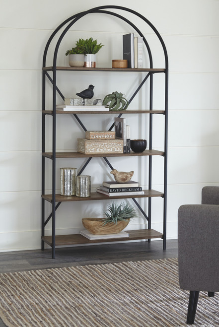 Ashley Galtbury Brown/Black Bookcase