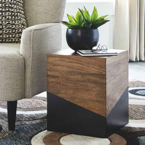 Ashley Trailbend Brown/Gunmetal Accent Table