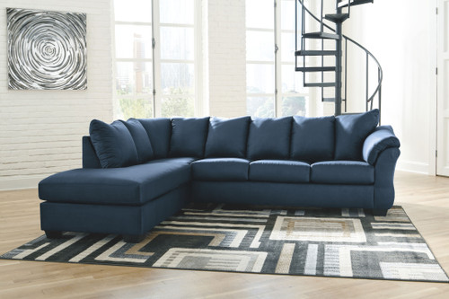 Ashley Darcy Blue LAF Corner Chaise & RAF Sofa Sectional