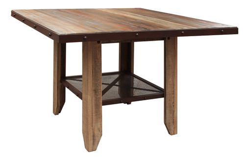 """IFD Antique 52"""" Counter Height Dining Table"""
