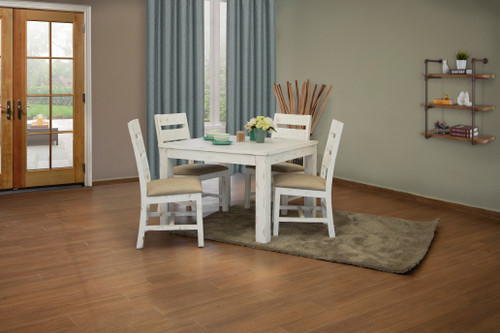IFD Pueblo White Counter Height Complete Table