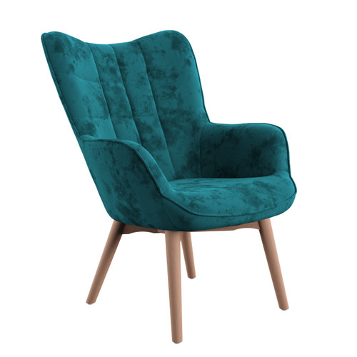 Emerald Margo Accent Chair, Turquoise