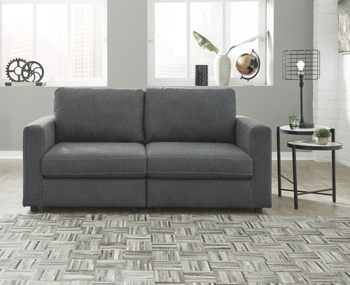 Ashley Candela Charcoal 2-Piece Sectional