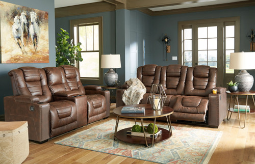 Ashley Owners Box Thyme 2 Pc. Power Reclining Sofa with Adjustable Headrest, Power Reclining Loveseat CON/Adjustable Headrest