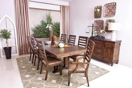 Coaster Avenue Collection - Delphine Rectangle Dining Table With Extension Leaf Vintage Dark Pine (192741)