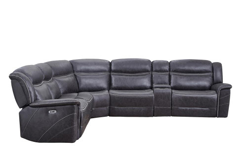 Coaster Charcoal - Bluefield 6-piece Modular Motion Sectional Charcoal (609360)