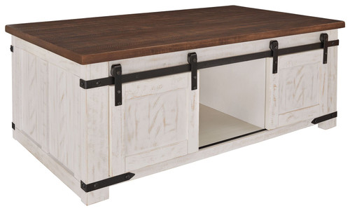 Ashley Wystfield White/Brown Rectangular Cocktail Table