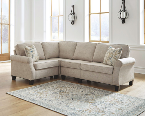 Ashley Alessio Beige Sofa/Couch, Wedge, Loveseat Sectional