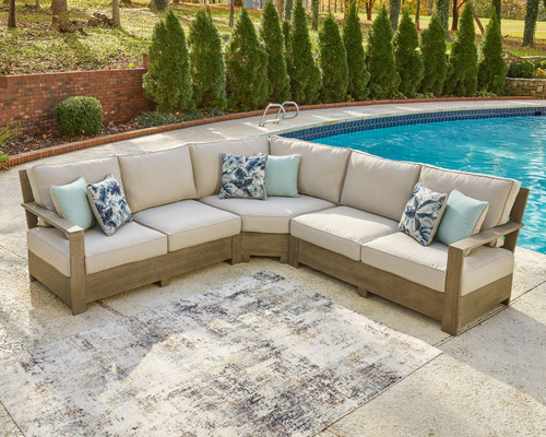 Ashley Silo Point Brown 3 Pc. Sectional Lounge