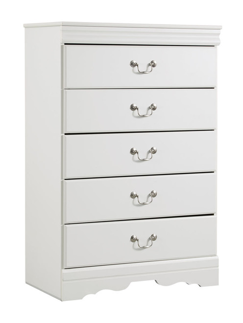Ashley Anarasia White Five Drawer Chest