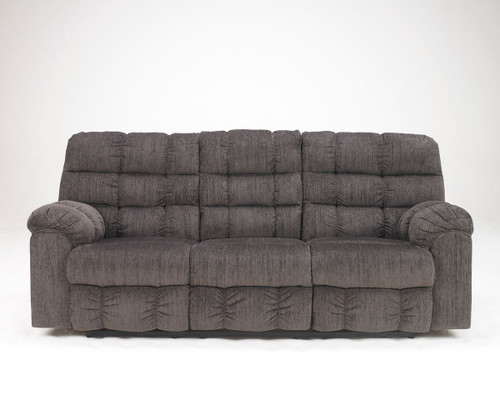 Ashley Acieona Slate Reclining Sofa/Couch with Drop Down Table