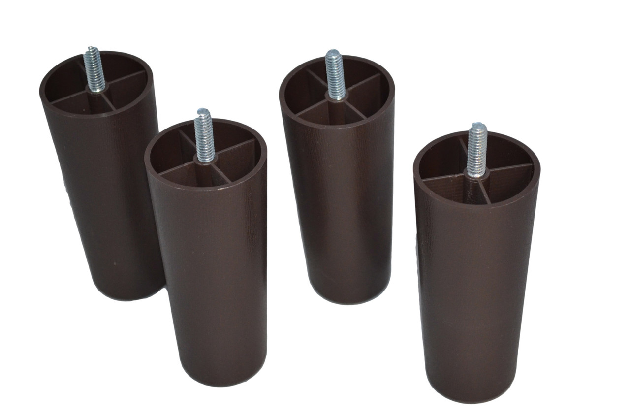 Replacement Furniture Legs 4 Inches Set Of 4 Plastic Brown
