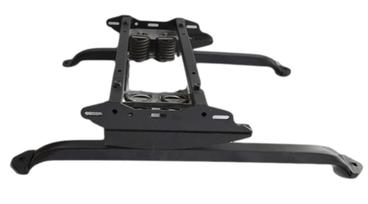 Replacement rocker recliner base 17 inch.  This rocker base has the cam, 2 top mounted heavy duty rocker springs and 17 inch base as 1 unit.  This recliner repair part is needed to repair a rocker recliner that has a broken base that is 17 inches.  This furniture repair part measures 17 inch from outside to outside leg support to leg support across the width of the base.  This recliner repair part will help you fix that broken recliner and get your feet back up.  All our furniture repair parts are available for bulk purchase.  Contact us for details.