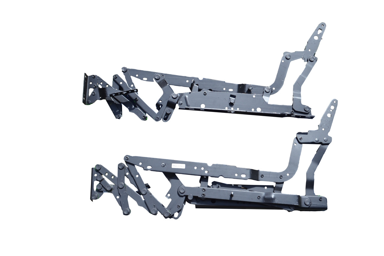 All Metal Construction For Lasting Durability, 8550 Mechanism Set For Recliner, 3-Way Mechanism offers Closed, TV, and Full Recline Positions, Push On The Arms to Actuate Mechanism, 8550 Leggett and Platt Mechanism