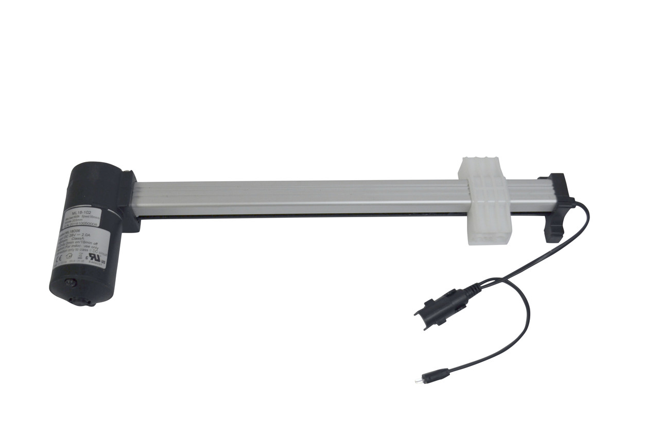 """Linear actuator to control recliner mechanism, 333mm (13.11"""") Stroke, 800N Max Load, DC 28V, Compatible replacement for KDPT005-38, KDPT007-02, and KDPT005-002"""