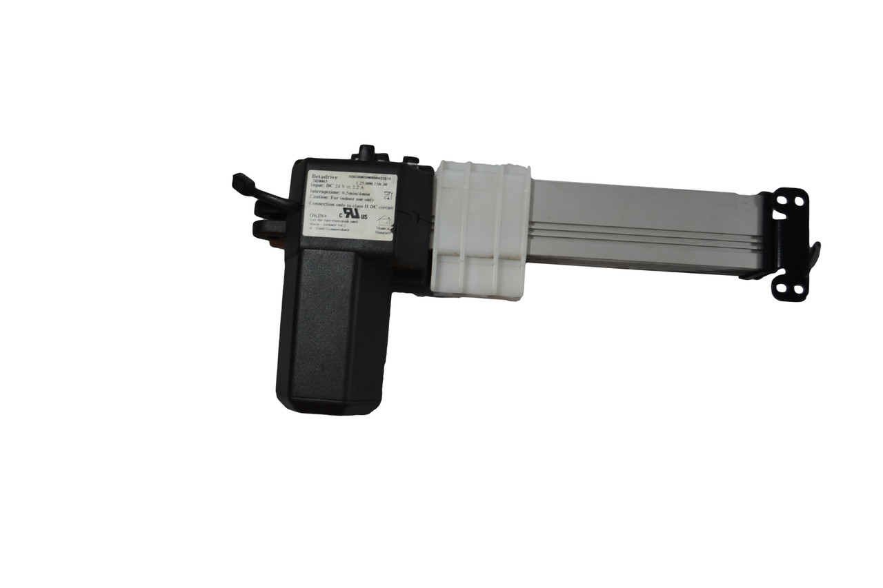 Okin Linear Actuator Motor For Power Recliners and Lift Chairs. This is Okin BetaDrive Part Number: 1.25.000.150.30 This Power Recliner Lift Chair Linear Actuator Motor Will Open and Close The Lift Mechanism of Power Recliner or Lift Chair. Connects to Motor Handset Hand control Via 5 Pin Style Connector, and Connects to the Power Transformer Via the Standard 2 Pin Style Connector. Used on Berkline, BenchCraft, and Many Others. Contact Customer Service For Additional Information or Bulk Pricing