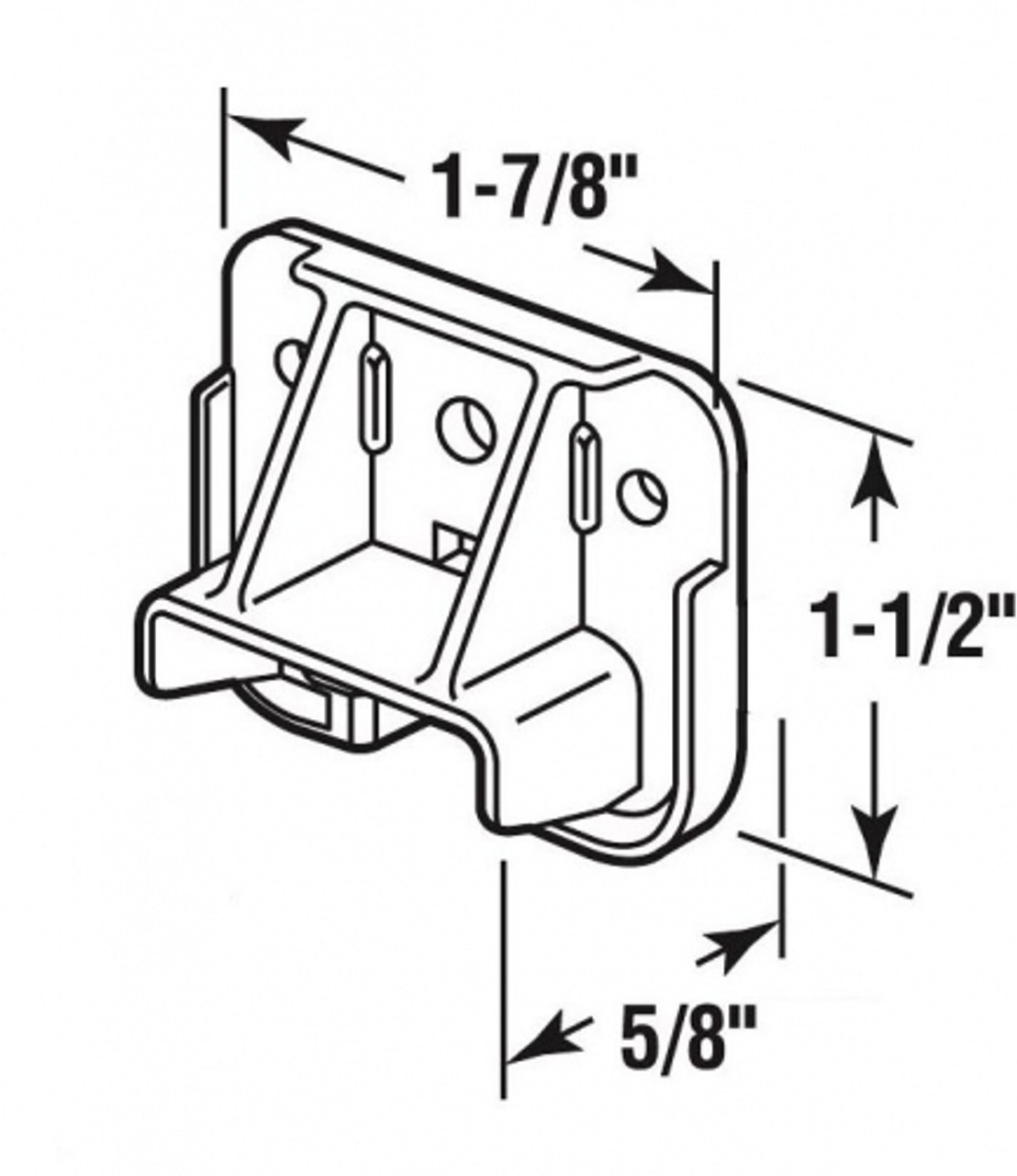 On a dresser drawer, when the drawer is pulled completely out and it tilts down, the most likely cause is a broken drawer guide. This replacement drawer guide is universal and will replace other drawer guides of the same shape and size. Contact customer service for additional information and bulk pricing.