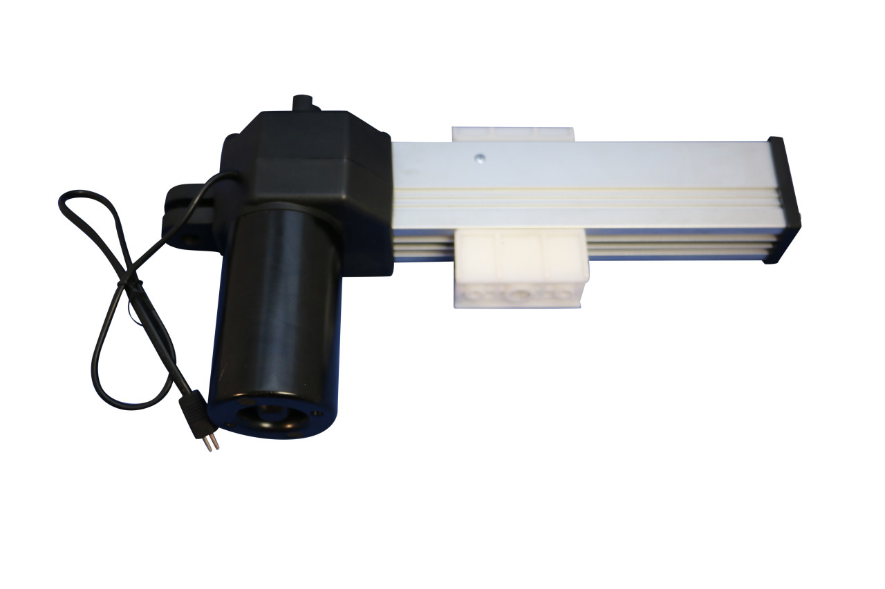 Okin Refined-R JLDQ-11 Headrest motor actuator.  For replacing model JLDQ.11.170.90. Be sure to examine your chair's current headrest motor label matches this part number before ordering a replacement. Uses a 2 pin stereo type plug, 24v, 50w.