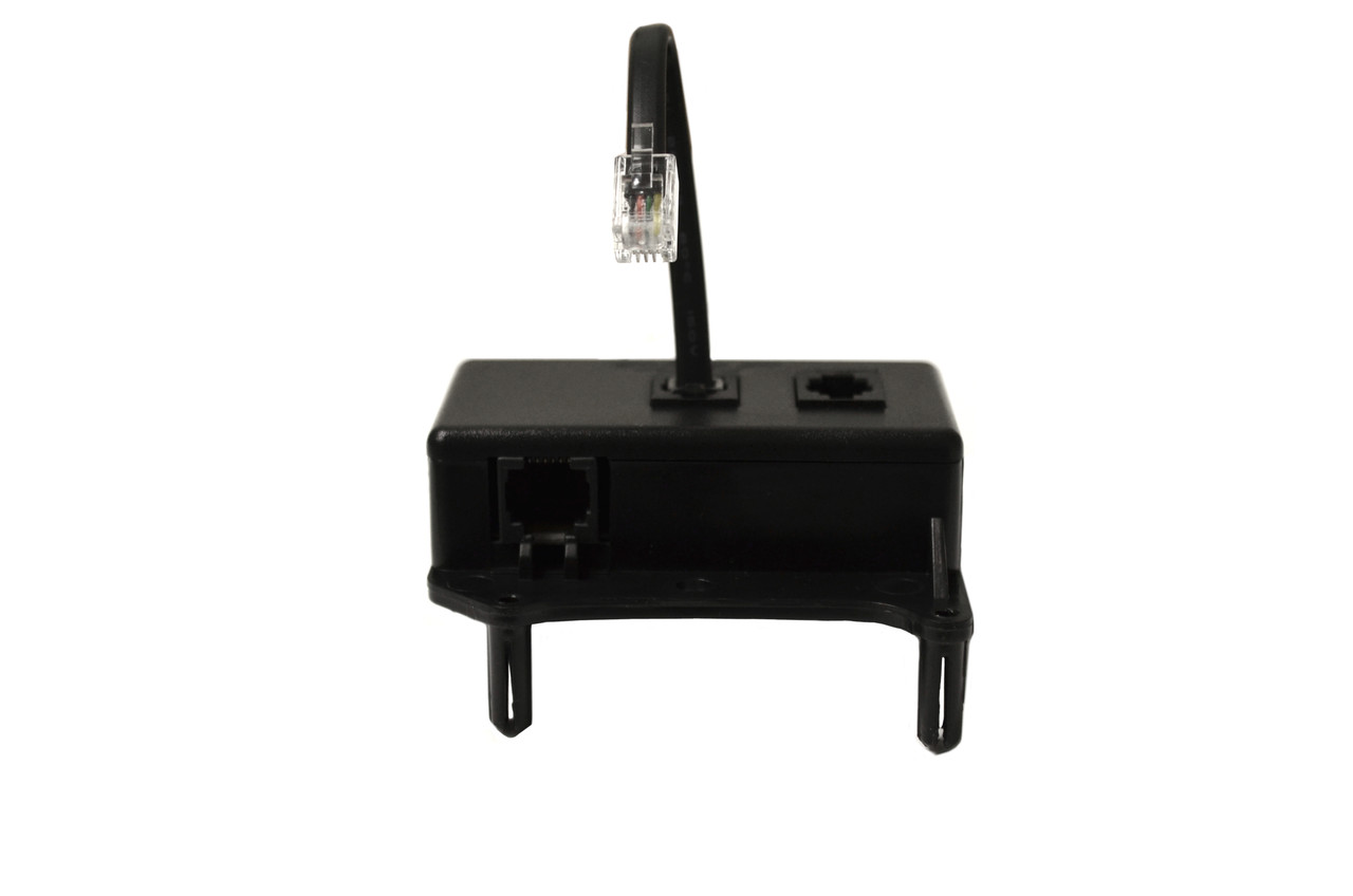 CIAR Brand Splitter Box, Splits 6 pin telephone adapter into two 4 Pin telephone adapters, Sticks to inner inside of recliner with plastic inserts and adhesive, Works with CIAR Touch Sensor buttons