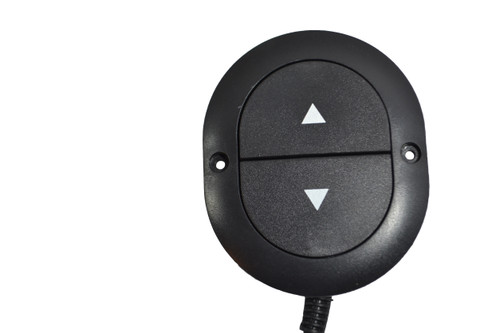 KD Kaidi 2 Button Handset For Power Recliners and Lift Chairs. Features Directional up/down Arrow for open and close buttons on Handset Face. This Power Recliner handset Connects Directly to the motor/actuator Via 5 Pin Plug style connector.  Contact Customer Service For Additional Information and Bulk Pricing. KDH003