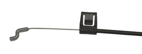 This replacement cable has a 2.25 inch exposed wire with assist spring. The 5mm Hoop is compatible with La-Z-Boy flapper style handles. It also features an S tip. The overall length is 35 inches This is for the cable only. You must have the flapper trigger for this to work with your recliner.