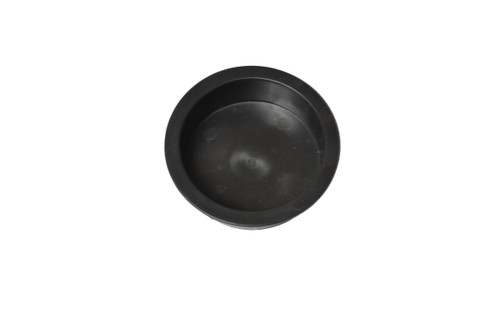 Replacement black plastic cup holder for recliners and sofas. This cup holder measures 1 inches tall and 2.9 inches in diameter. The cups top lip diameter is 3.4 inches. It can be used in couches, pool tables, boats, and rv's, or any custom build.