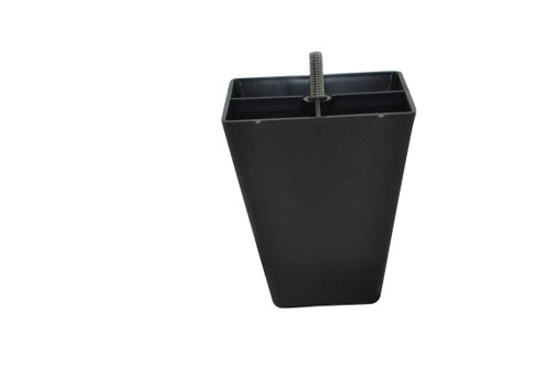 Black Plastic Pyramid Style 4.5 Inch Leg For Sofas and Recliners This leg is a modern style leg with a Black  plastic exterior. This replacement leg is 4.5 Inches tall and 4 Inches across the top. Restore your couch, sofa, ottoman, or any furniture with our beautiful replacement legs.