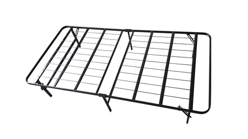AdJUST4Me Brand Steel folding Bed Frame and Mattress. The bed frame features all steel construction. This is a folding bed frame with compact design for easy storage. The folding legs lock into place and can be transformed from a storage position to laying position in under a minute. The bed frame provides ample storage space under the bed with a 13 inch clearance. The mattress is a twin size pocketed inner coil mattress. Our bed frames can be used in place of a box spring on many beds and offer more support.  These all steel bed frames are perfect for college dorm rooms and other areas where space is a premium.  The steel construction of our bed frame is much heavier duty and offers more support for your mattress than most beds found in college dorm rooms.  Contact customer service for additional information and bulk pricing.