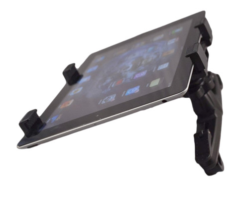 Tuffmounts Headrest mount for all iPad Models, Kindle, Kindle Fire HD, Samsung Galaxy Note, Samsung Galaxy Tab and more.  Works with most Tablets or Ereaders with 7-10.1 inch screens.  Allows back seat passenger to enjoy content on their Tablet or Ereader while on trips etc. Complete tilt and rotate allows for best viewing position.  Easy to install no tools needed.