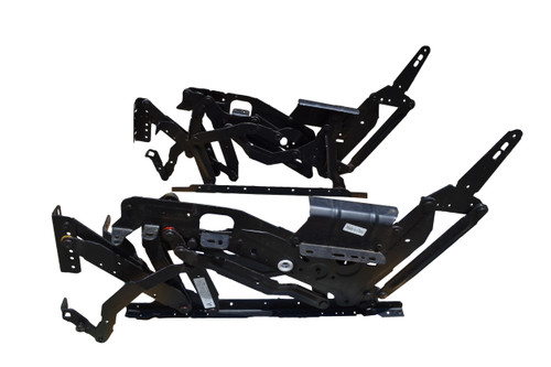 This 4302 mechanism set is for recliners and sofas. This mechanism features 3-position seating of closed tv and full recline positions. This mechanism is actuated using a drive tube style system driven by a lever style handle. Used on many brands of furniture, and is universal to any chair that uses this mechanism. Contact customer service for additional information or bulk pricing.