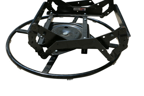 "All metal construction swivel glider ring base. Features heavy duty rivets, a 49 bearing swivel plate, ring is 24"". Mounts directly to mechanism of chair. Will replace an old or bent swivel glider ring. Made in the USA. Contact customer service for additional information and bulk pricing. Hickory Springs 11136000"
