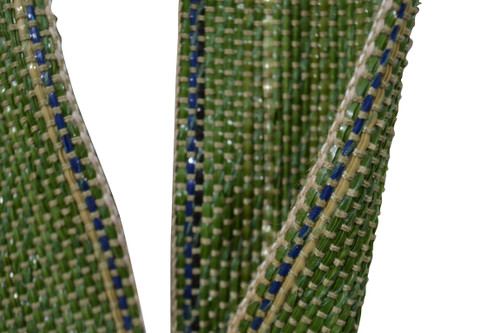 3 Inch Green Polypropalyne Webbing Upholstery Sofa Chair Repair 5 Yard Roll Ideal for replacing worn pirelli webbing or jute. Very easy material to work with. Contact Customer Service For Additional Information and Bulk Pricing.