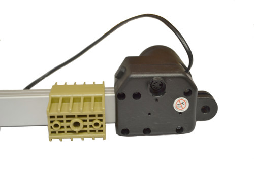 This power recliner lift chair linear actuator motor will open and close the lift mechanism of power recliner or lift chair. Has mounting brackets on the opposite end to mount to a frame.  Connects to motor handset hand control via 5 pin style connector, and connects to the power transformer via the standard 2 pin style connector.  Compatible with chairs that use the Okin BetaDrive 1.25.000.215.30 as a replacement, as well as chairs that use Okin JDLQ-156-333  Part #:  450076