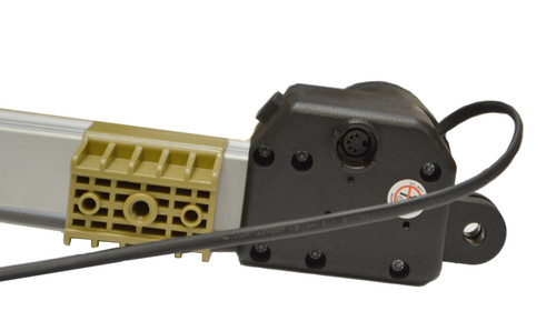 This power recliner lift chair linear actuator motor will open and close the lift mechanism of power recliner or lift chair. Connects to motor handset hand control via 5 pin style connector, and connects to the power transformer via the standard 2 pin style connector.   Compatible replacement for chairs that use Okin 1.25.000.073.30 motors and  Limoss 450427.