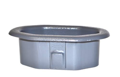 "Gray Bezel for filling grommets or interfaces in cars, tables, and couches. Protect cables and upholstery with this diamond-shaped bezel, which will fit dimensions of 3.75"" x 6"" grommet."