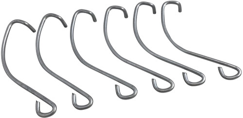 These replacement hooks are used on sofa sleeper bed decks. Complete set of 6 Hooks. These hooks attach the bed deck to the frame of the sleeper. These hooks attach at the crosstube of the sofa sleeper. Only for Leggett and Platt 2500 Series sofa sleeper bed decks.   Contact customer service for additional information and bulk pricing.