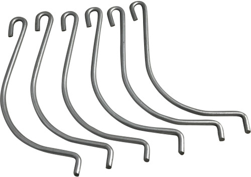These replacement hooks are used on sofa sleeper bed decks. Complete set of 6 Hooks. These hooks attach the bed deck to the frame of the sleeper. These hooks attach at the Crosstube of the sofa sleeper. Only for Leggett and Platt brand sofa sleepers. Contact customer service for additional information and bulk pricing.