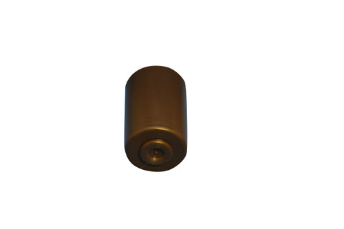 Brown plastic sofa recliner sectional leg with 5/8 inch hanger bolt. This leg is universal to any piece of furniture that uses the 5/8 inch hanger bolt. This leg will stand 3 inches tall when installed and has a 2-inch diameter.  A set of 4.