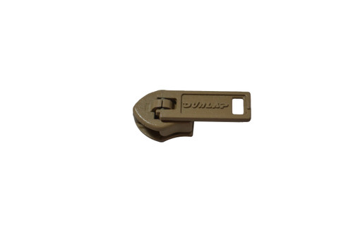 This is a set of 30 Dunlap universal zipper sliders, #4 metal jacket old style. This is a universal zipper size #4. It is a solid metal slider with a beige color. This zipper slider has many applications including pants, skirts, fine garments, cushions, clutch handbags and more. This is a pinlock slider meaning when the pin or handle of the slider is pushed down it locks slider in place. Contact customer service for additional information and bulk pricing.