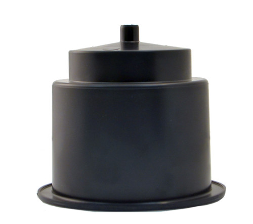 "Brand new replacement flush mount plastic cup holder with a single drain spigot. Ideal for installation in tables, chairs, outdoor seating, and private theaters. Its large drain hole can be used with tubing to direct spills and condensation without pooling up in either the cupholder or leaving puddles underneath the cup holder. These two-tiered cup holders can hold both bottles and cans. They have a 4-1/3"" outside diameter,  a 3-1/2"" inside diameter and are 3 3/8"" tall. They need to be inset into a cavity between 3-3/5"" and  4-1/4"" in diameter."