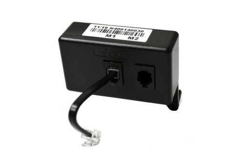 CIAR splitter box that converts a telephone style 6 pin connector into two smaller telephone style 4 pin connectors for CIAR's touch control buttons.  Contact customer service for additional information and bulk pricing.