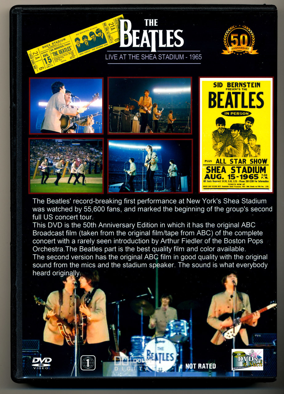 The Beatles At Shea Stadium 08 15 65 50th Anniversary Special Edition Dvd Dvds Nsuch