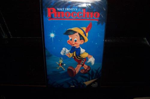 Walt Disney's Pinocchio VHS - Black Diamond, Black Padded Clamshell